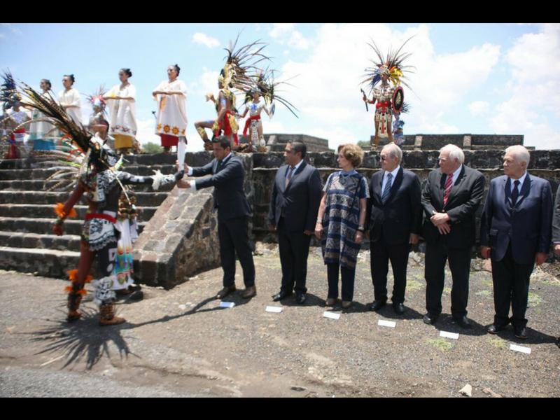 La llama arde en Teotihuacán previo a Barranquilla 2018