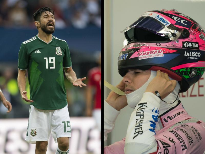 'Checo' Pérez se pinta de verde para Rusia 2018