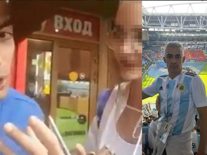 Expulsan a Argentino por humillar a joven Rusa