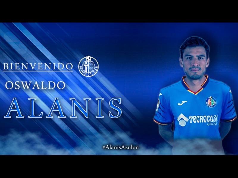 Getafe oficializa fichaje de Oswaldo Alanís