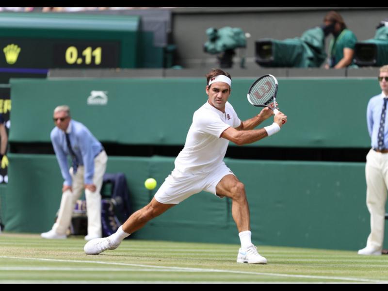 Federer arrasa con Mannarino y está en 4tos de Wimbledon