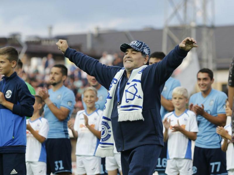 Maradona debuta como presidente
