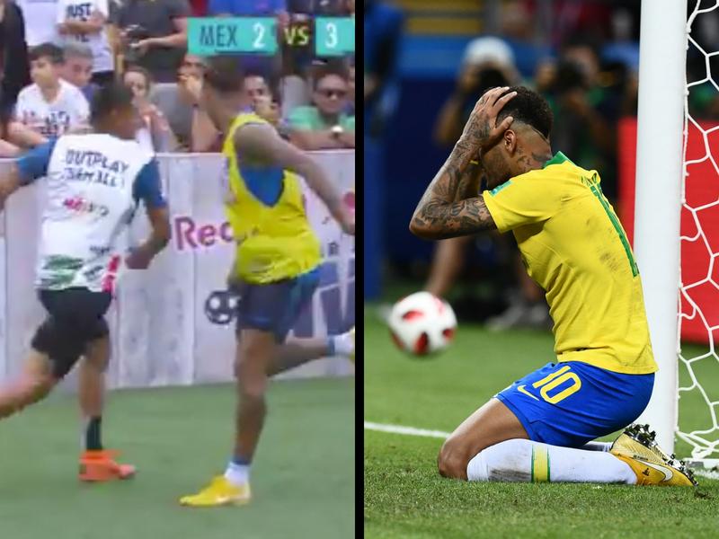 Video: Mexicano se desquita con Neymar