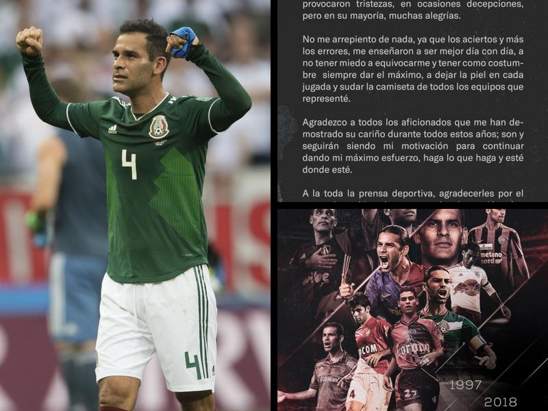Emotiva carta de despedida de 'Rafa' Márquez