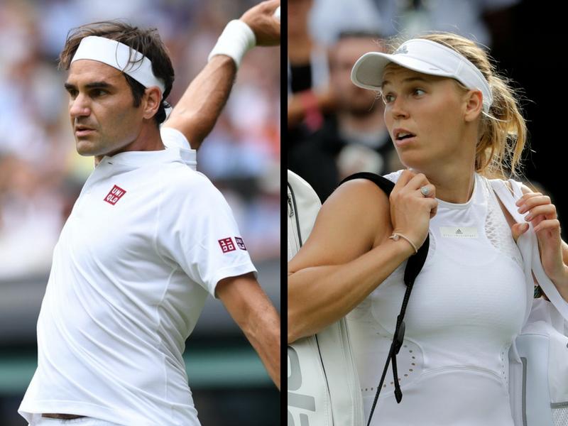 Federer avanza sin problemas en Wimbledon; Wozniacki eliminada