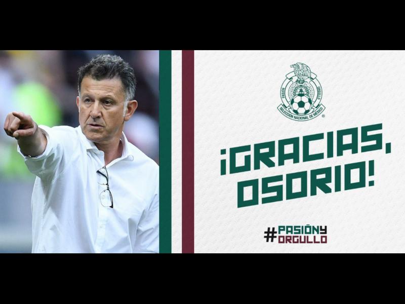 Juan Carlos Osorio no seguirá con el TRI