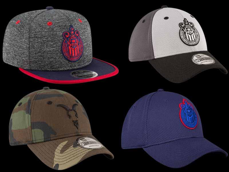 Chivas presume nueva colección de gorras