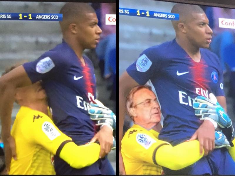 Memiza por abrazo a Mbappé