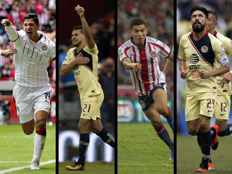 Chivas y América presumen goleadores mexicanos