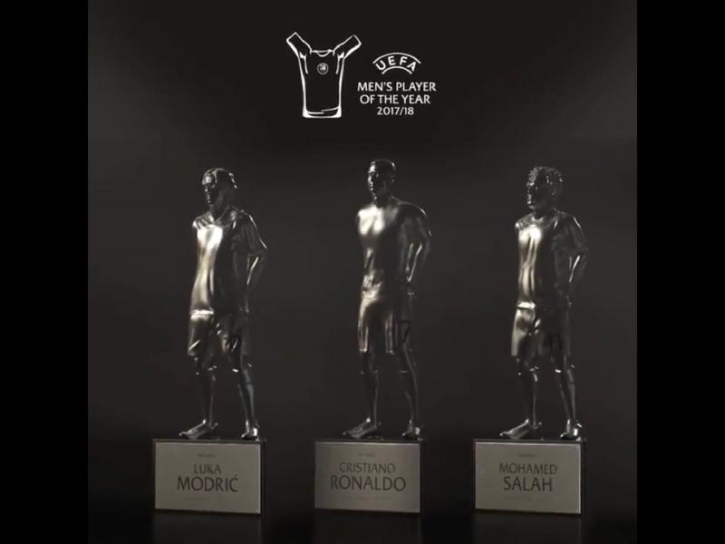 Los trofeos personalizados para CR7, Modric y Salah