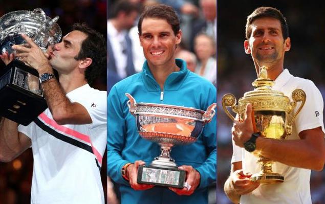 Federer, Nadal y Djokovic, marcando época desde 2003
