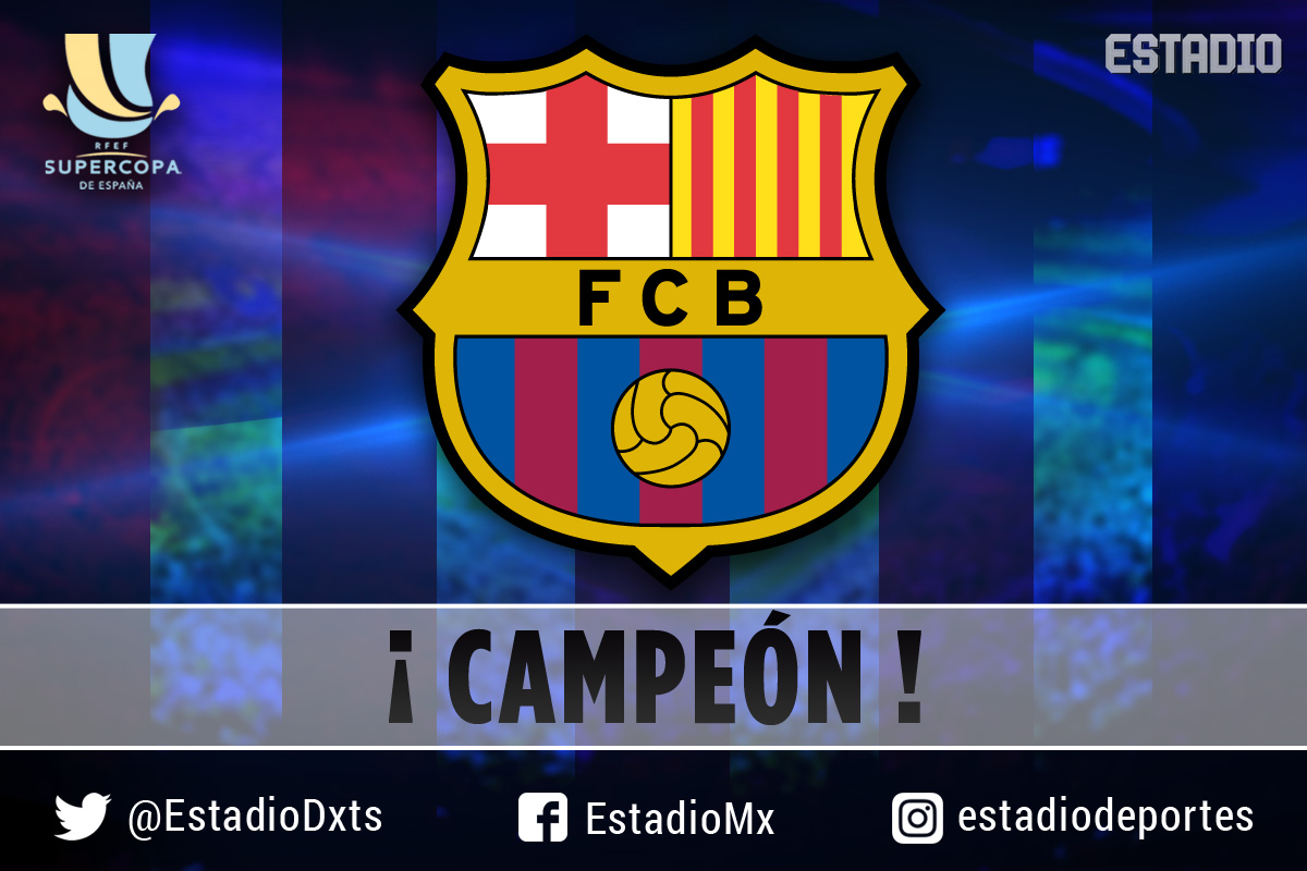 Barcelona campeón de la Supercopa de España