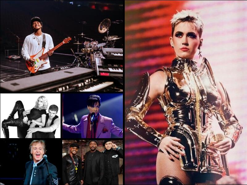 Los artistas que se han presentado en el show de MT del Superbowl
