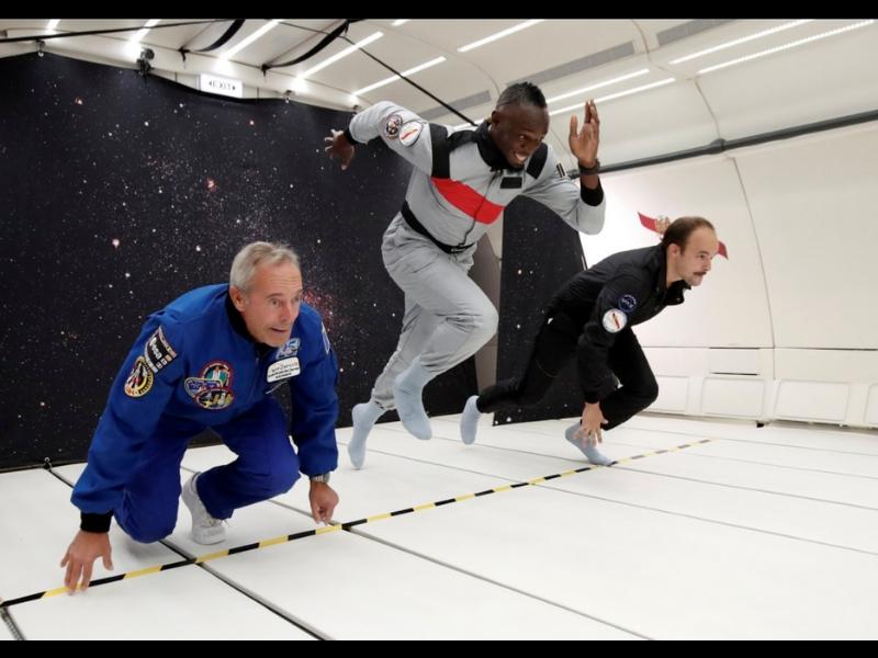 VIDEO: Bolt, ¿el humano más rápido en el espacio?