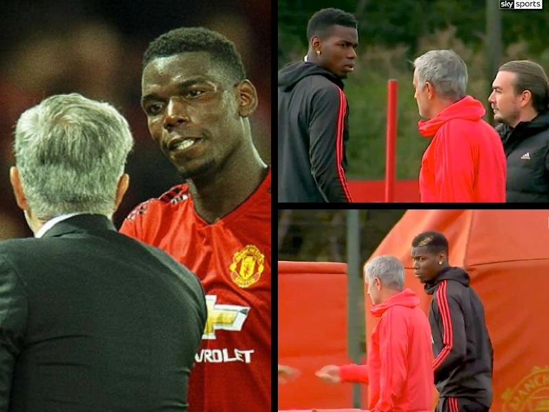 VIDEO: Alta tensión entre Mourinho y Pogba