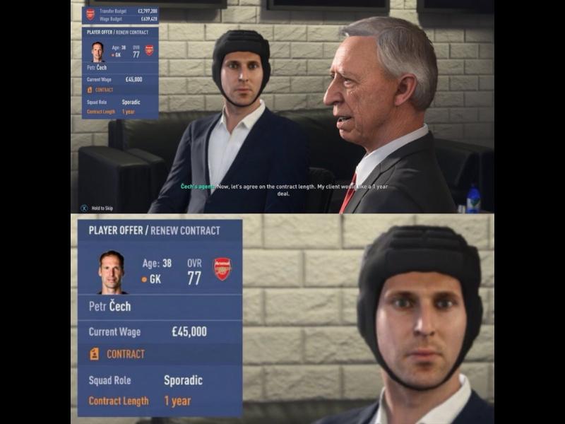 Petr Cech trollea a EA con FIFA 19