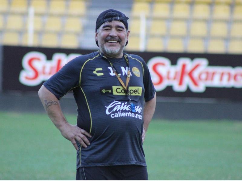 Maradona y su baile de la victoria