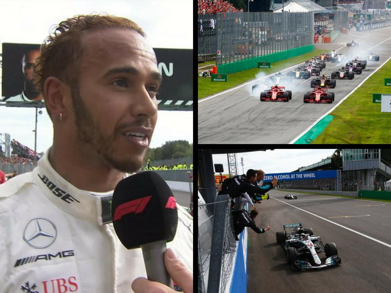 En un caótico GP, Lewis Hamilton se corona en Monza