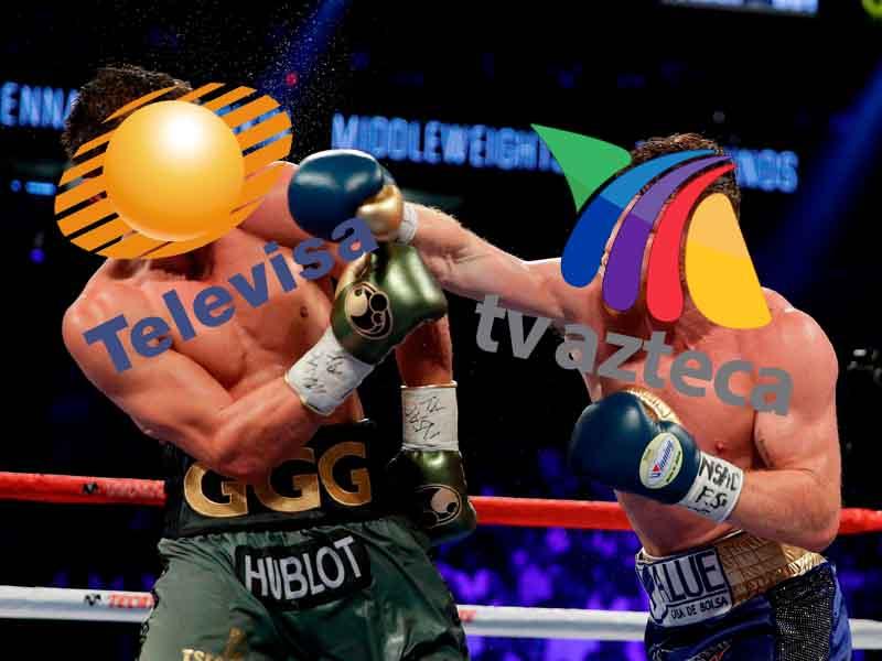 Tv Azteca noquea a Televisa en pelea Canelo-Golokvin