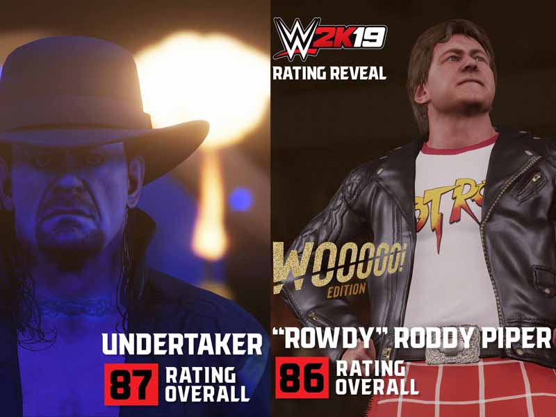 Ratings de luchadores y luchadoras en el WWE 2K19