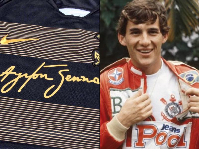 Corinthians homenajea a Senna con jersey especial