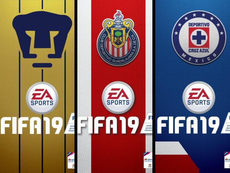 FIFA 19 presenta portadas personalizadas de los equipos de la Liga MX