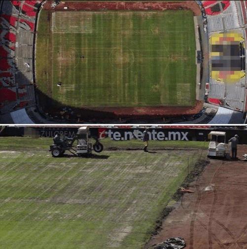 El Estadio Azteca es un desastre a poco de recibir la NFL