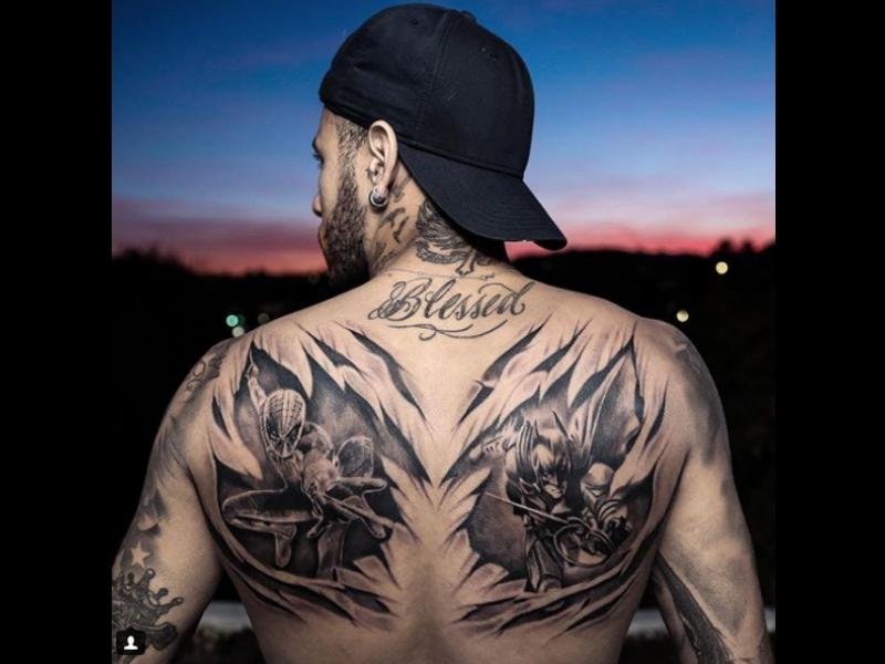 Neymar se tatuó a sus superhéroes favoritos