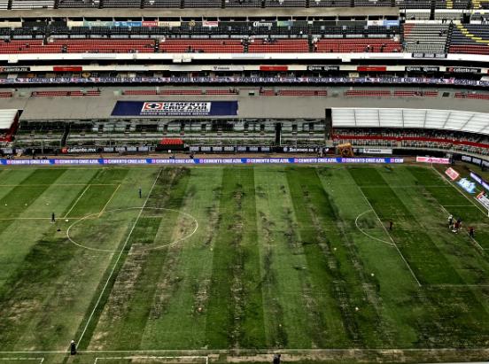 ¿Qué pasará con el pasto del Estadio Azteca?