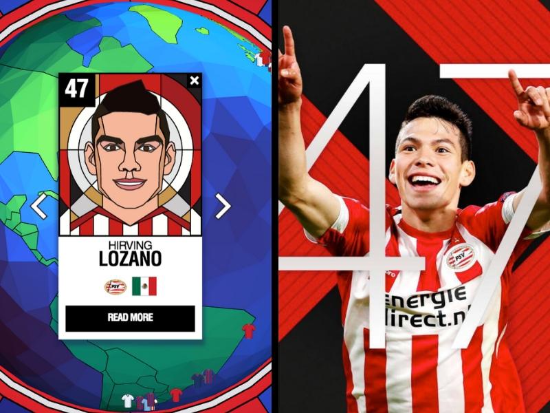 'Chucky' Lozano incluido en el top 50 de mejores jugadores del mundo