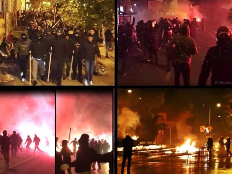 Ultras del AEK de Atenas y Ajax protagonizan guerra de pirotecnias