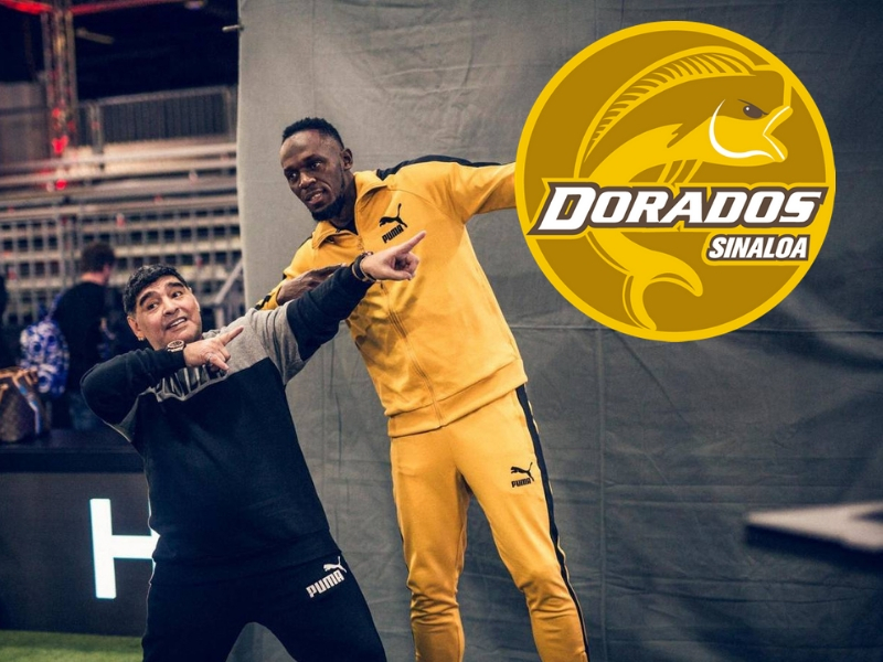 ¿Maradona y Bolt juntos?
