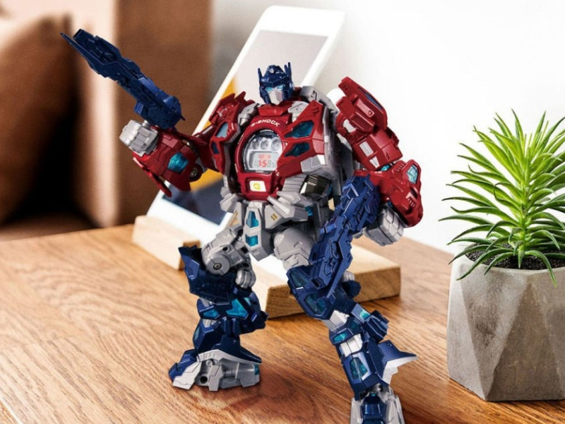 ¡Genial! Optimus Prime versión reloj
