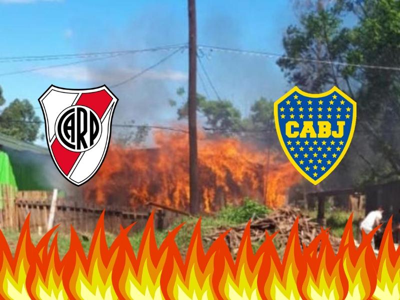 ¡El River-Boca provoca un incendio!