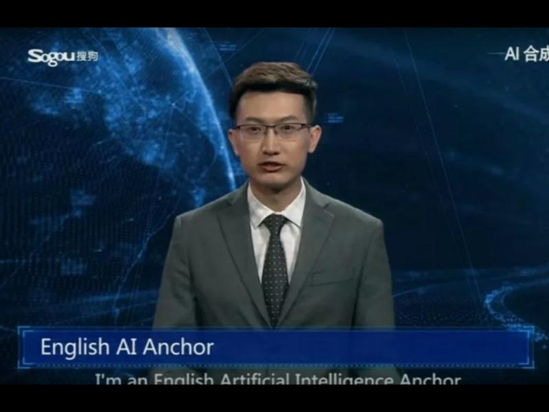 Un robot humano es presentador de noticias