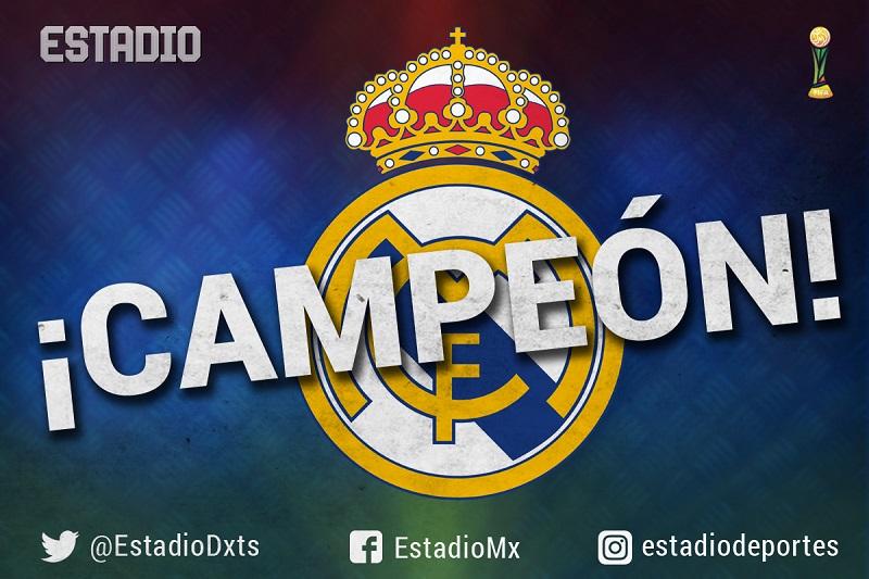 ¡Real Madrid campeón del Mundo!