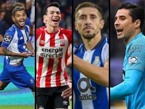 Minutos que jugaron los mexicanos en Europa en el 2018