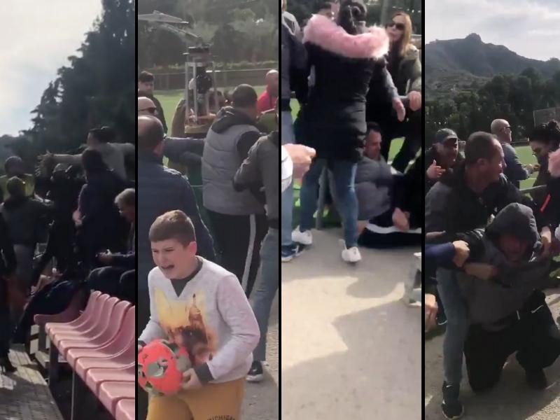 Video: partido infantil termina en campal de padres