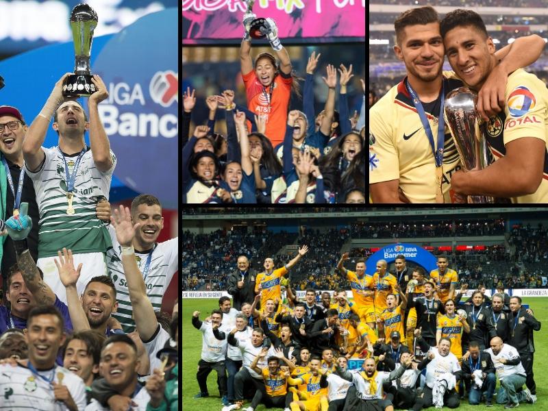 Los trofeos que el futbol mexicano entregó en el 2018