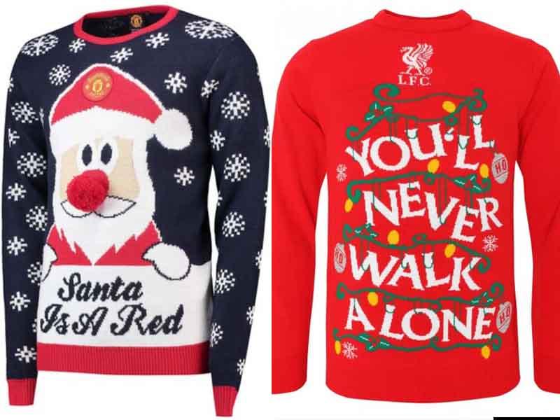 Checa los suéteres navideños de la Premier League