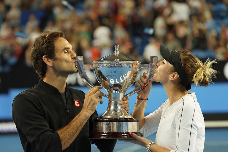 Federer comienza el 2019 con un nuevo récord