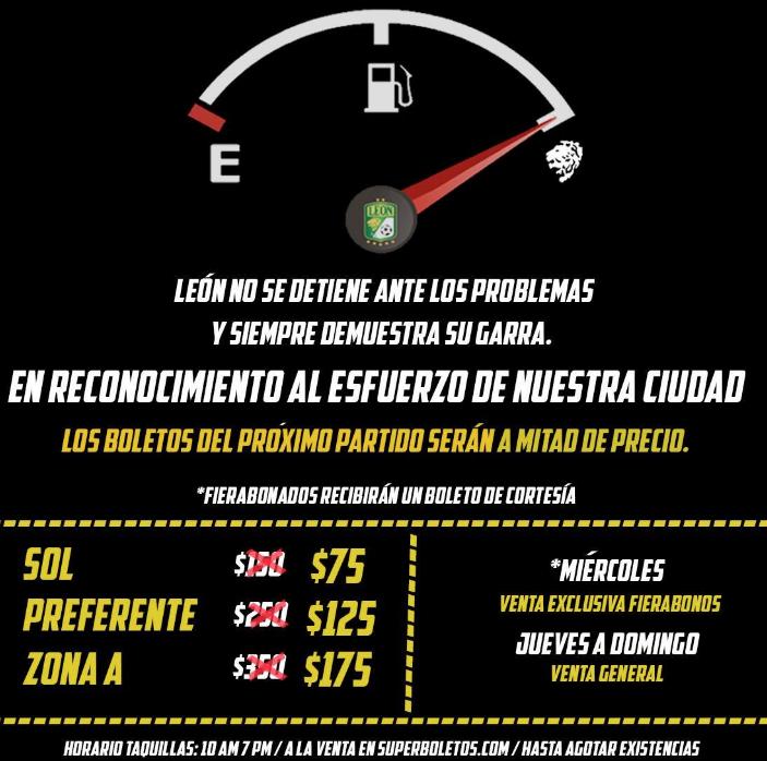 Promociones por el desabasto de gasolina
