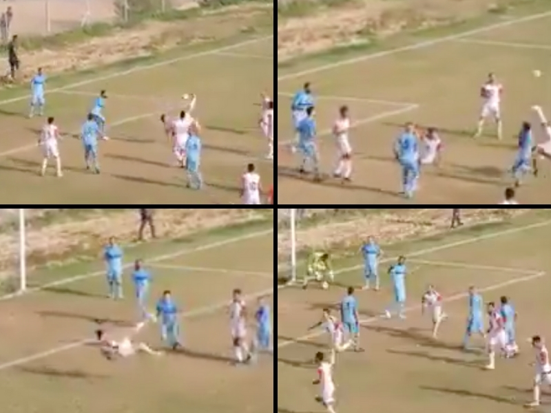Video: anotan gol de triple Chilena