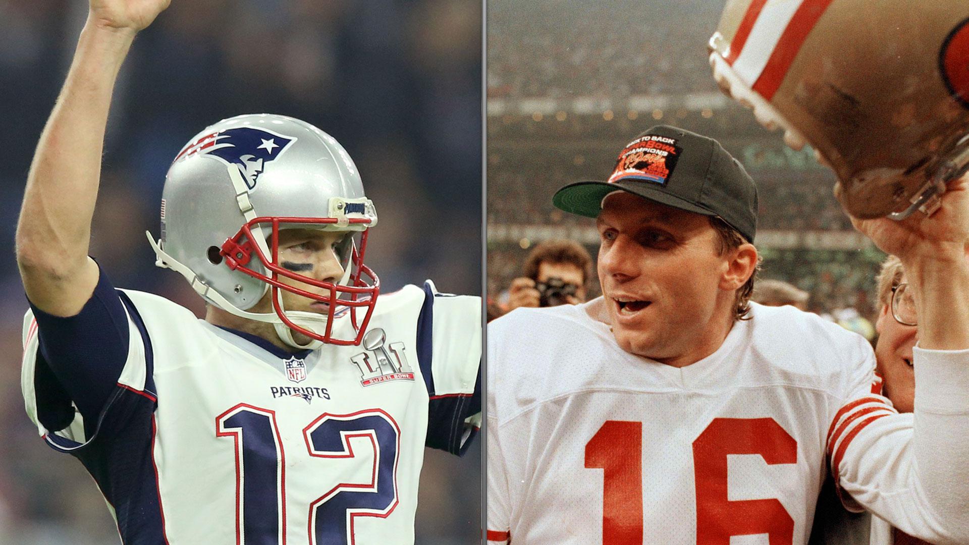Razones que colocan a Brady por debajo de Montana