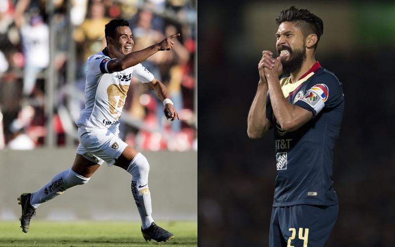 favorito en el Pumas vs América. Pablo Barrera, Oribe Peralta. Foto: Mexsport