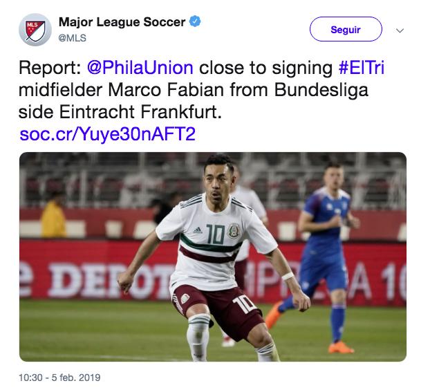 Marco Fabián llegaría a la MLS