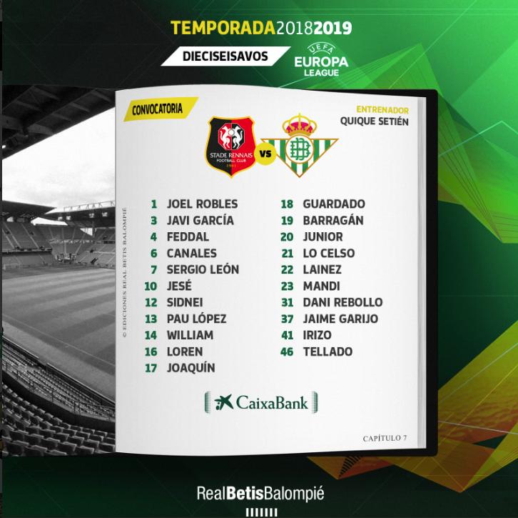 Diego Lainez aparece en la convocatoria del Real Betis