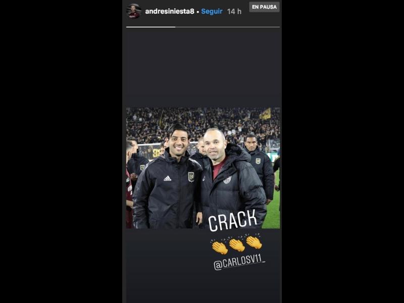 Carlos Vela y Andrés Iniesta