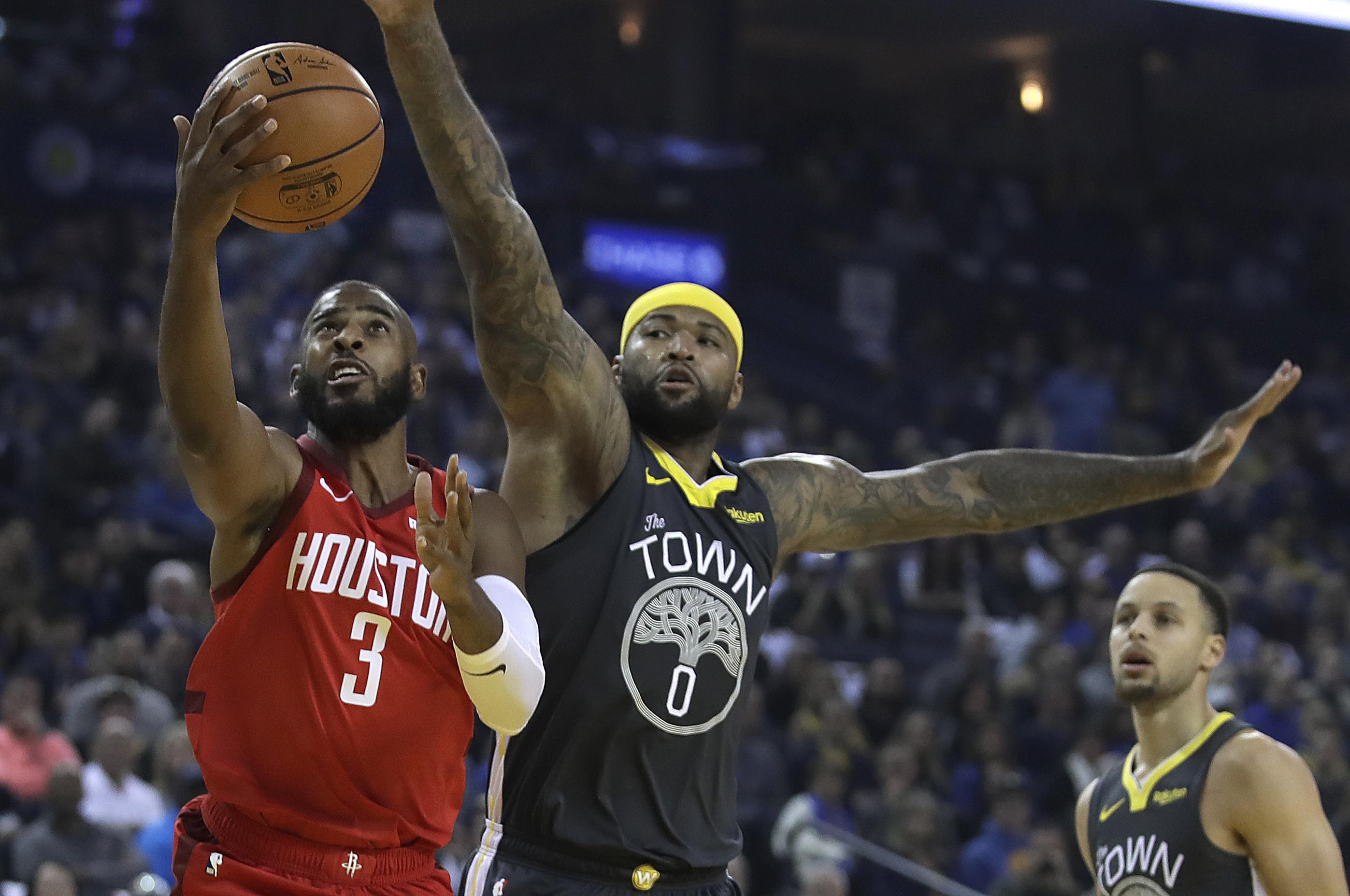 Rockets vencen 118-112 a Warriors sin James Harden