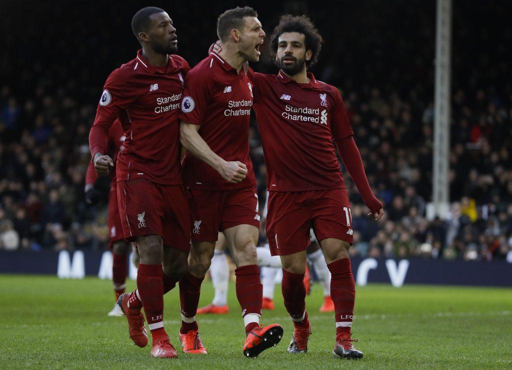 Liverpool vuelve a cima de Liga Premier tras vencer a Fulham